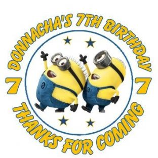 Personalised Despicable Me Minions Party Stickers
